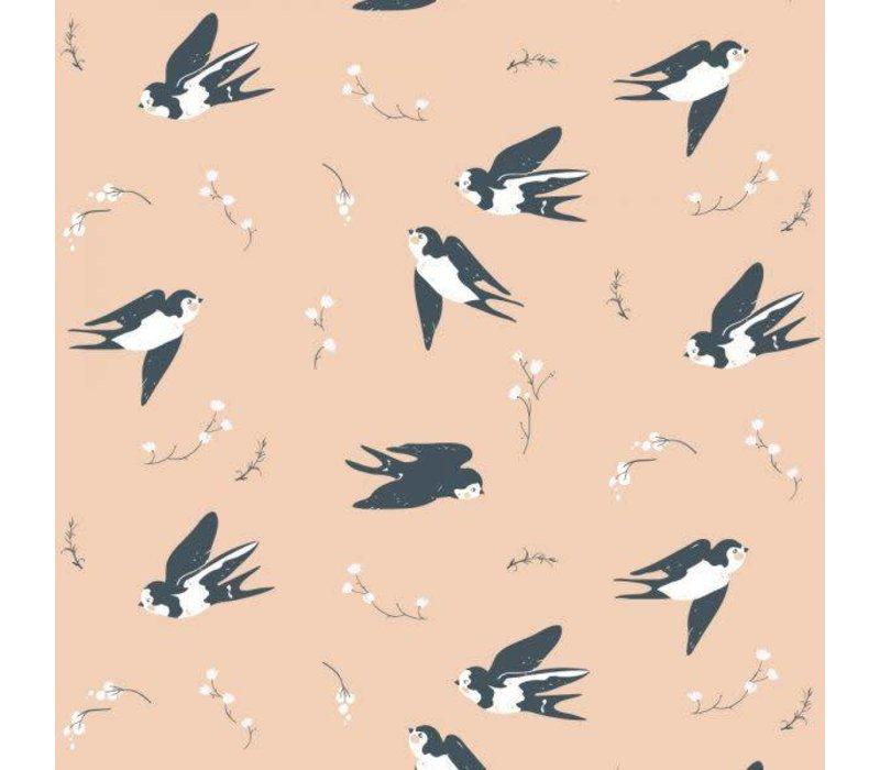 Birch Interlock Pink Little Swallows