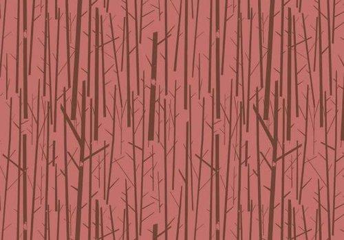 Birch Birch Interlock Rusty pink Trees