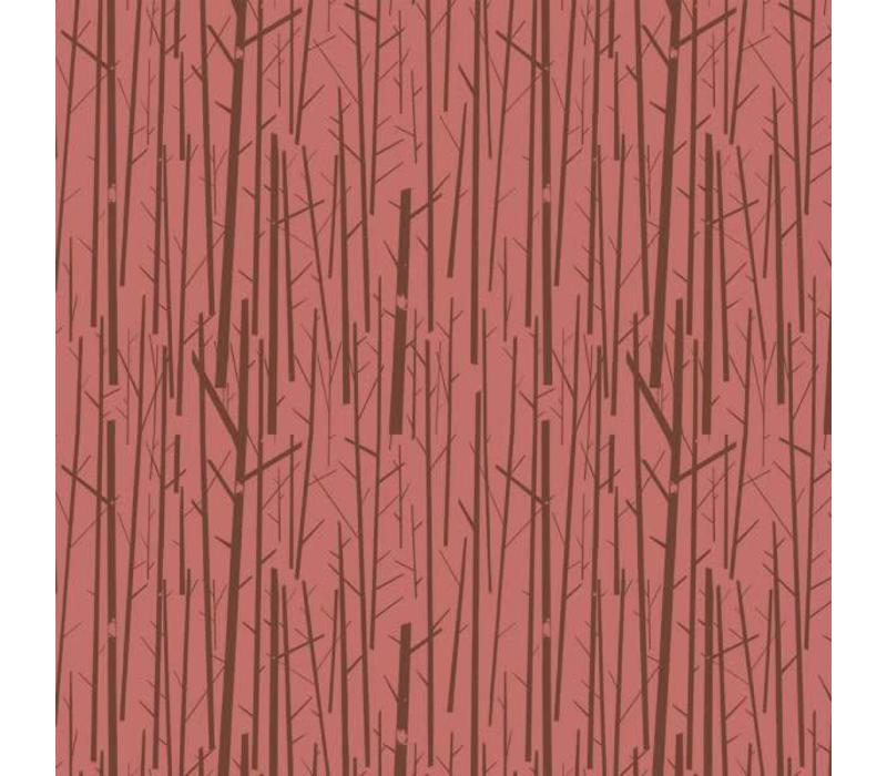 Birch Interlock Rusty pink Trees