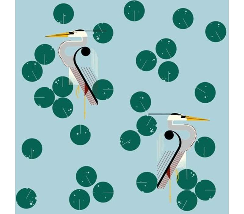 Charley Harper Maritime Mint Canvas