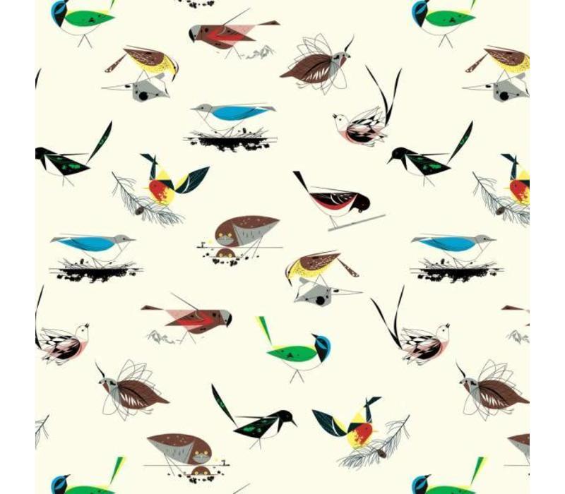 Charley Harper Western Birds White Canvas