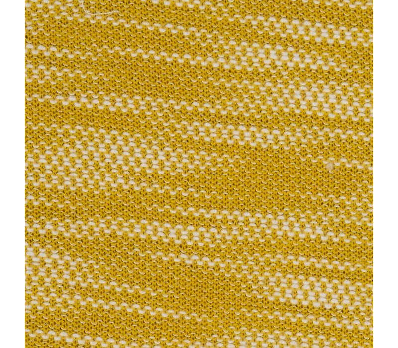 Jacquard Tricot Oker and White