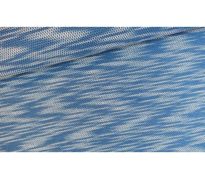 Jacquard Tricot Blue and White