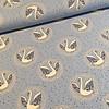 De Stoffenkamer Tricot blue swans