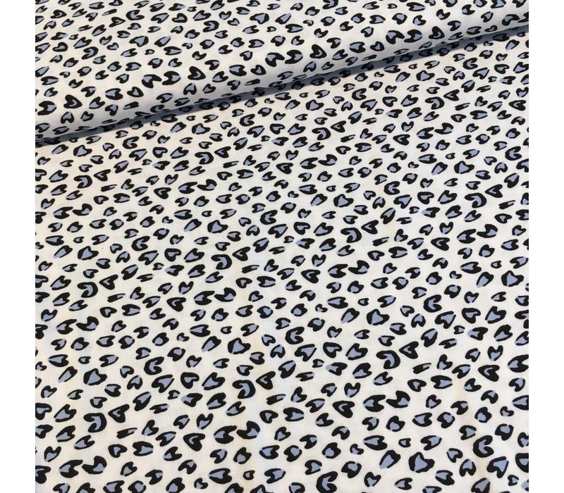 Viscose stretch leopard white