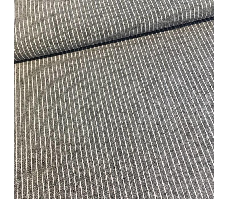 Linen Mix Washed grey stripes