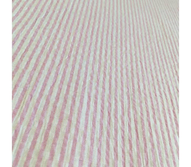 Seersucker Mix Cotton Pink