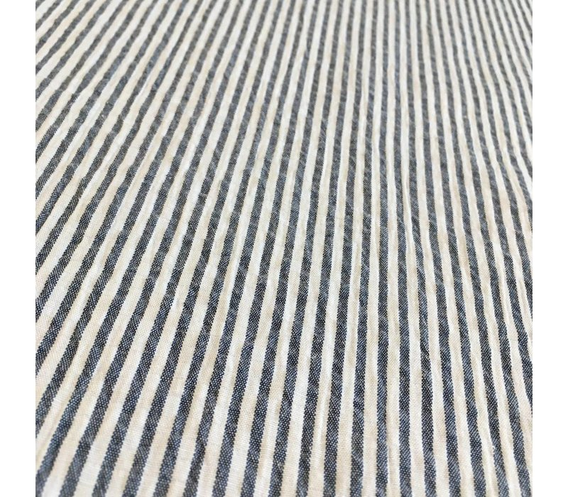 Seersucker Mix Cotton Denim blue