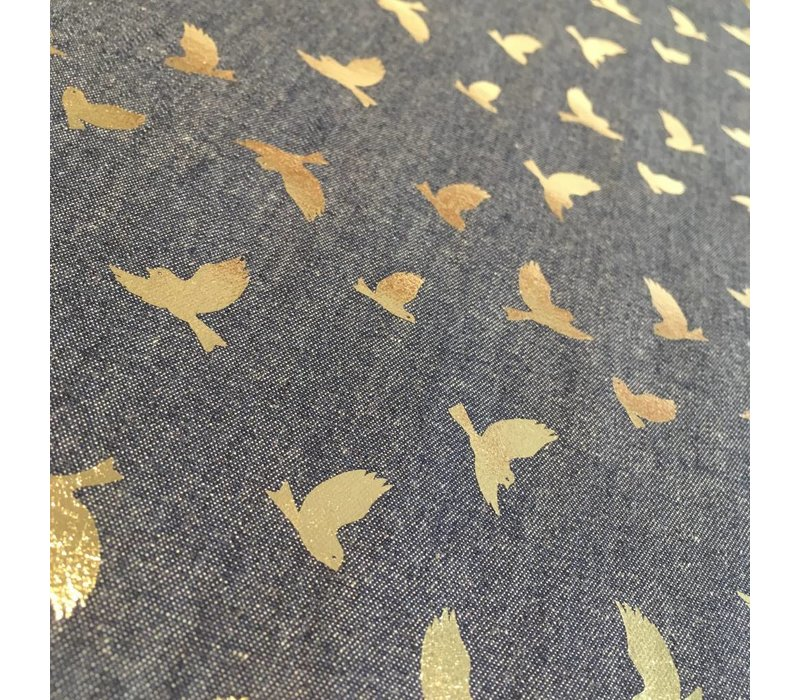 Denim Golden Birds