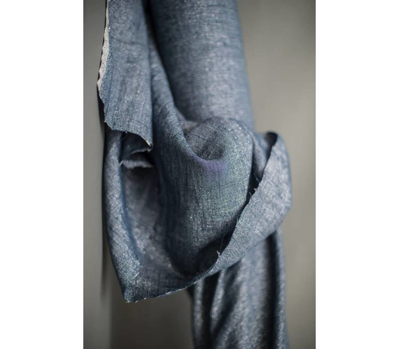Washed Linen Night Blue Luxe
