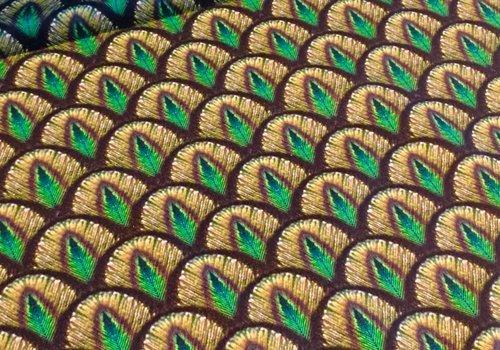 De Stoffenkamer Stevige katoen Peacock