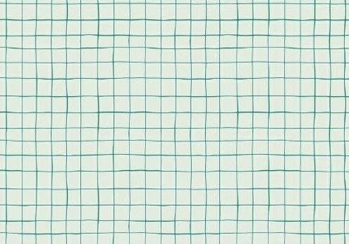 De Stoffenkamer Gelamineerd Katoen Grid Green