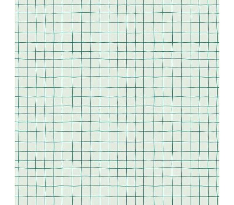 Gelamineerd Katoen Grid Green