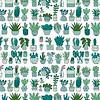 De Stoffenkamer Gelamineerd Katoen Cactus