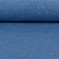 Jacquard Tricot relief Blue