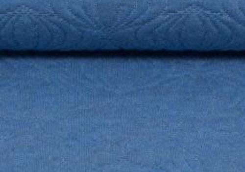 De Stoffenkamer Jacquard Tricot relief Blue