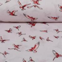 Viscose red birds