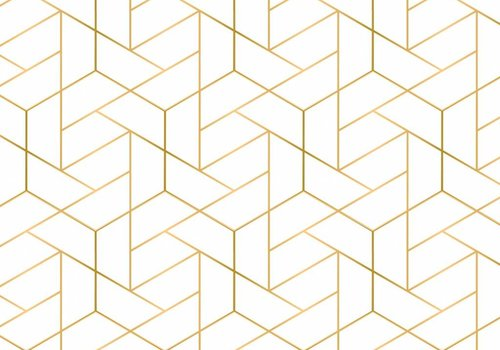 Camelot Cottons Mixology luxe gold Geo