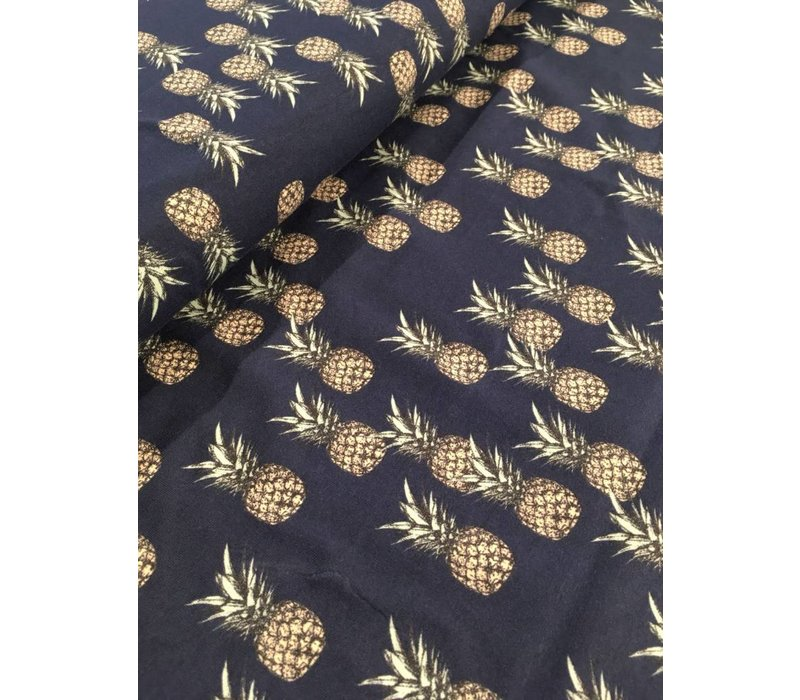 Tricot Blue Pineapples