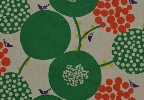 Kokka Echino Etsuko Furuya Canvas Kokka Green