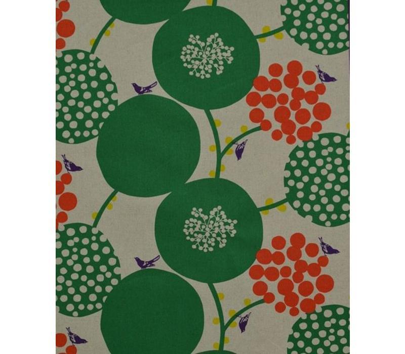 Echino Etsuko Furuya Canvas Kokka Green