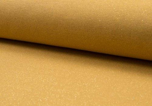 De Stoffenkamer Boordstof Glitter Okergeel