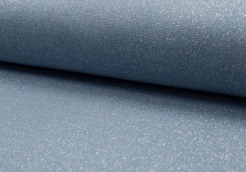 De Stoffenkamer Boordstof Glitter Denim Blue