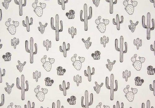 De Stoffenkamer Tricot Black & White Cactus