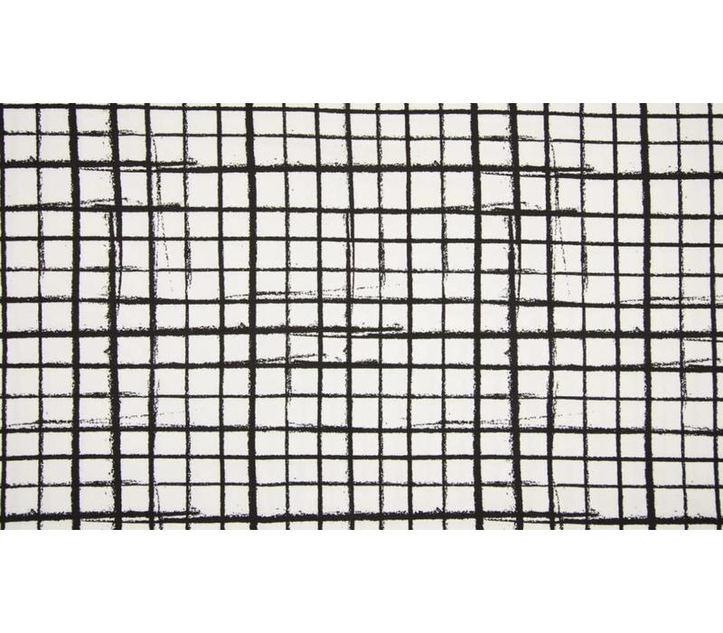 Tricot Black & White Grid