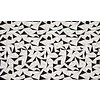 De Stoffenkamer Tricot Black & White Geo Shapes