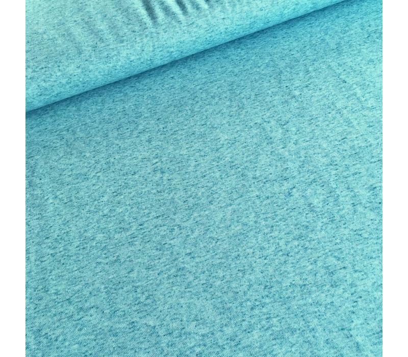 Linen mix tricot Light petrol