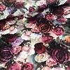 De Stoffenkamer Fluweel Velvet roses multi