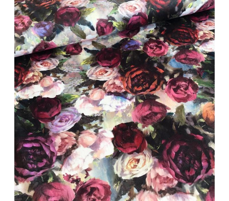 Fluweel Velvet roses multi