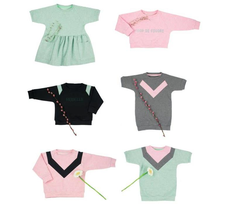 Isa jurk, sweater & top - Bel'Etoile