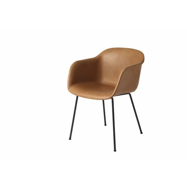 Muuto Fiber Chair textile / leather tube base