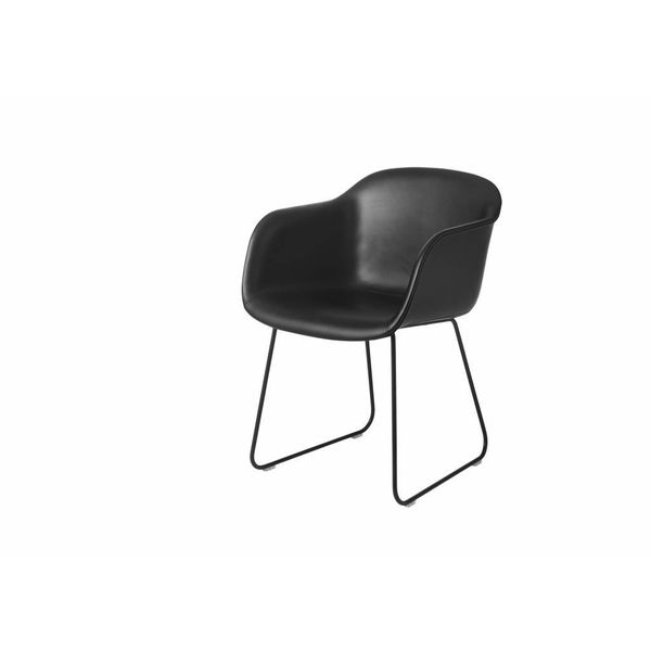 Muuto Fiber Chair textile / leather sled base