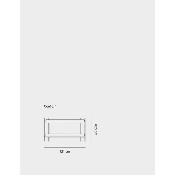 Muuto COMPILE SHELVING SYSTEM / CONFIGURATION 1 / CONFIGURATION 1 Grey