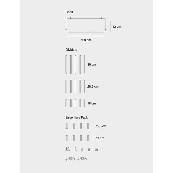 Muuto COMPILE SHELVING SYSTEM / CONFIGURATION 2 / CONFIGURATION 2Grey