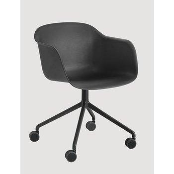 Muuto Fiber Chair normal shell swivel base with castors