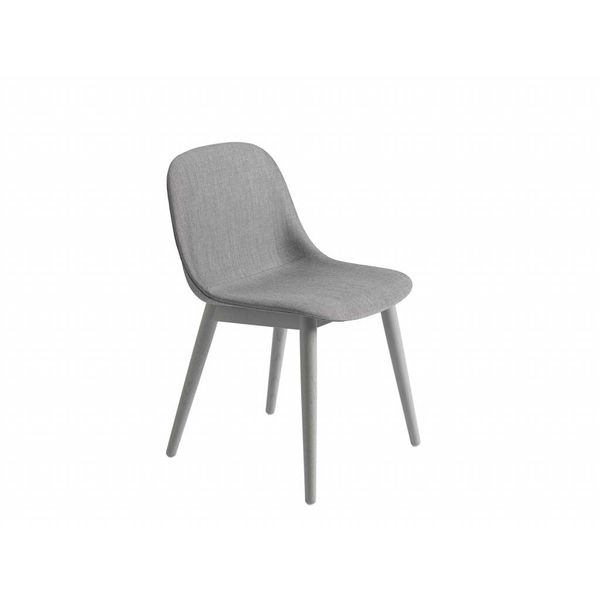Muuto Fiber Side Chair textile / leather shell woodbase