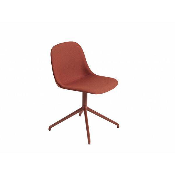 Muuto Fiber Side Chair textile / leather swivel base with return