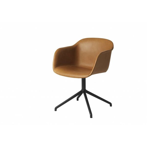 Muuto Fiber Chair textile / leather swivel base without return