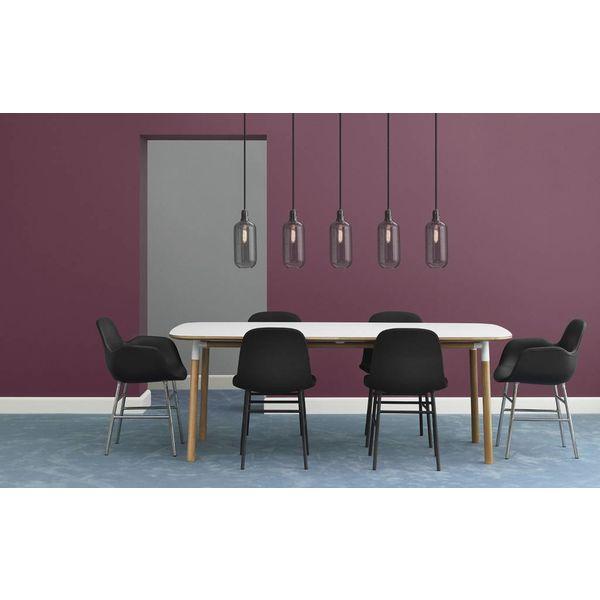 Normann Copenhagen Form Armchair Full Upholstery Black Alu