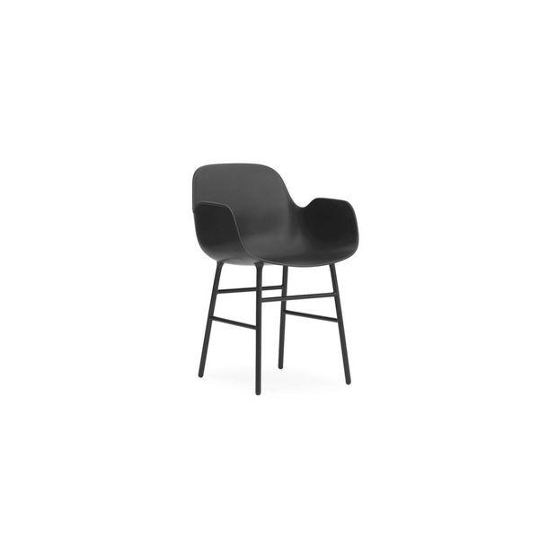 Normann Copenhagen Form Armchair Full Upholstery Steel legs