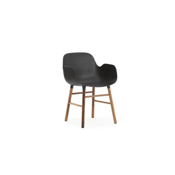 Normann Copenhagen Form Armchair Full Upholstery Walnut legs
