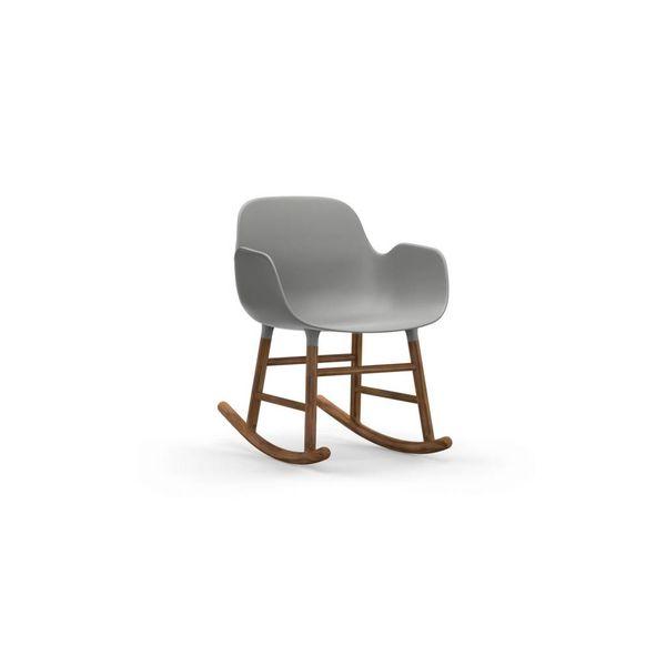 Normann Copenhagen Form Rocking Armchair Full Upholstery Walnut legs