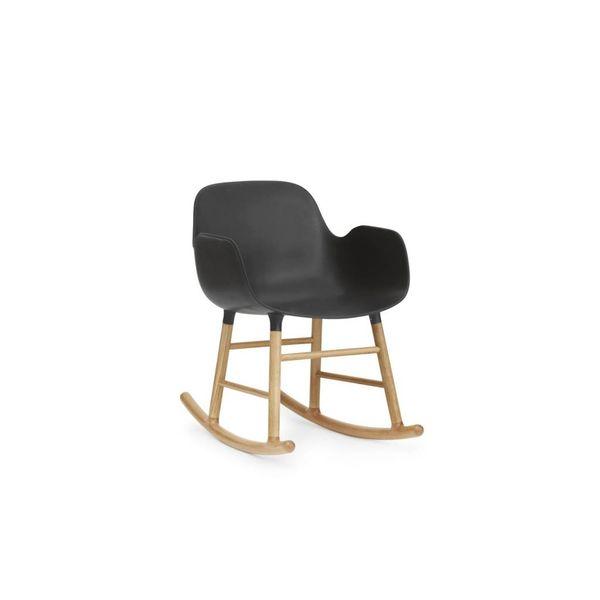 Normann Copenhagen Form Rocking Armchair Full Upholstery Oak legs