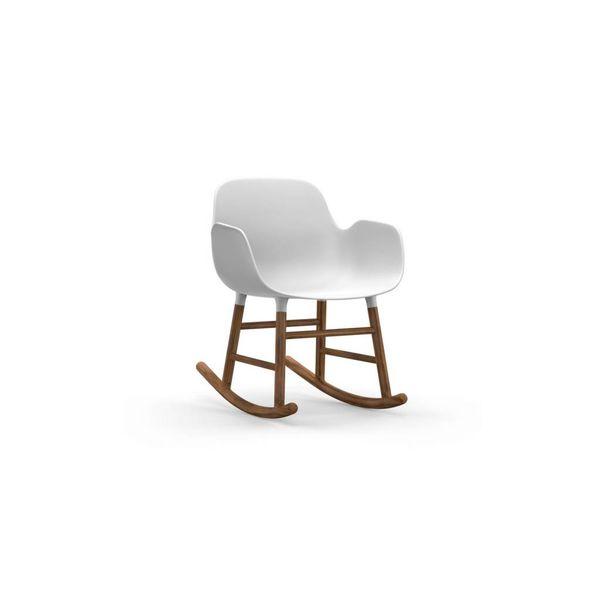 Normann Copenhagen Form Rocking Armchair Walnut legs