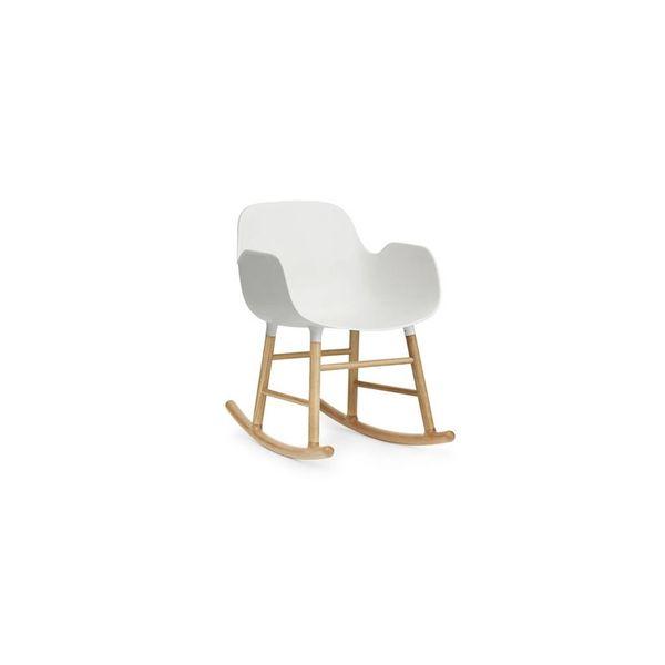 Normann Copenhagen Form Rocking Chair Full Upholstery Oak legs
