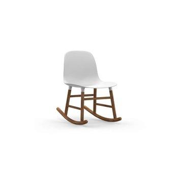 Normann Copenhagen Form Rocking Chair Full Upholstery Walnut legs